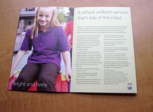School uniform brochure for Stevensons