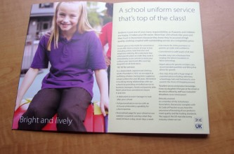 School uniform brochure for Stevensons