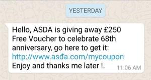 Homoglyph WhatsApp message